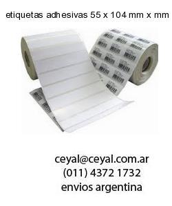 etiquetas adhesivas 55 x 104 mm x mm