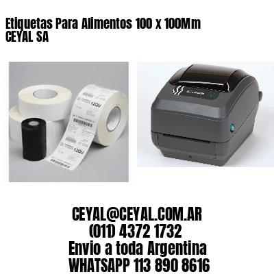 Etiquetas Para Alimentos 100 x 100Mm CEYAL SA
