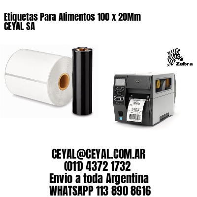 Etiquetas Para Alimentos 100 x 20Mm CEYAL SA