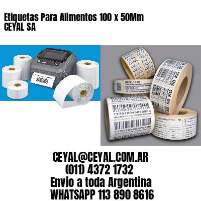 Etiquetas Para Alimentos 100 x 50Mm CEYAL SA