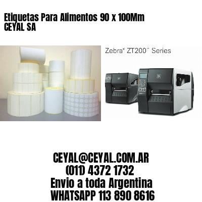 Etiquetas Para Alimentos 90 x 100Mm CEYAL SA