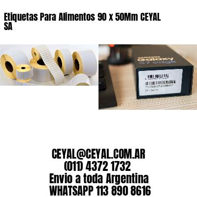 Etiquetas Para Alimentos 90 x 50Mm CEYAL SA