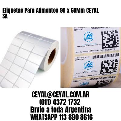 Etiquetas Para Alimentos 90 x 60Mm CEYAL SA