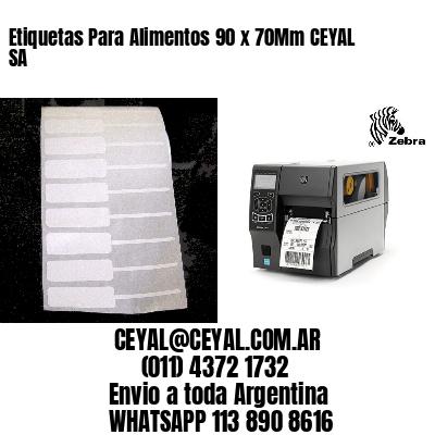 Etiquetas Para Alimentos 90 x 70Mm CEYAL SA