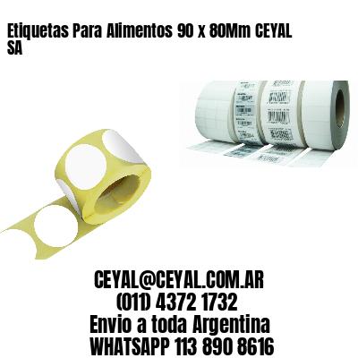 Etiquetas Para Alimentos 90 x 80Mm CEYAL SA