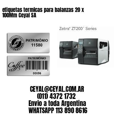 etiquetas termicas para balanzas 20 x 100Mm Ceyal SA