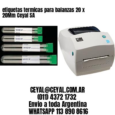 etiquetas termicas para balanzas 20 x 20Mm Ceyal SA
