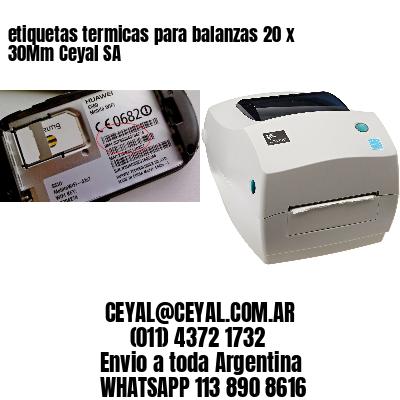 etiquetas termicas para balanzas 20 x 30Mm Ceyal SA