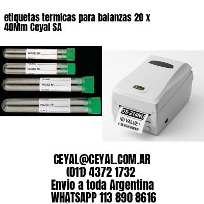 etiquetas termicas para balanzas 20 x 40Mm Ceyal SA