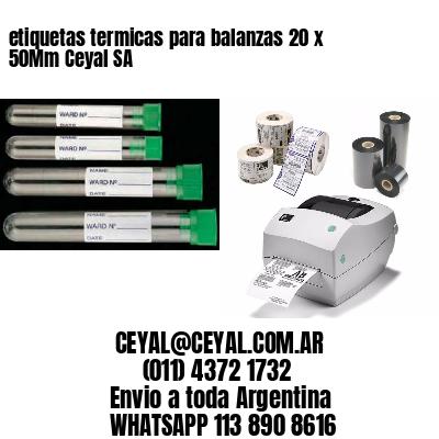 etiquetas termicas para balanzas 20 x 50Mm Ceyal SA