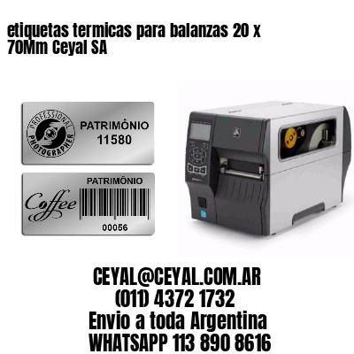 etiquetas termicas para balanzas 20 x 70Mm Ceyal SA