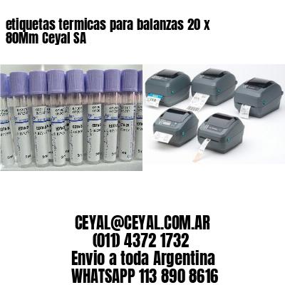 etiquetas termicas para balanzas 20 x 80Mm Ceyal SA