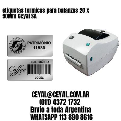 etiquetas termicas para balanzas 20 x 90Mm Ceyal SA