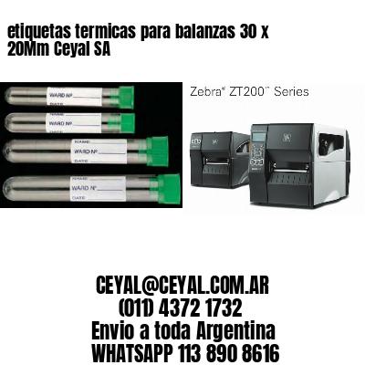 etiquetas termicas para balanzas 30 x 20Mm Ceyal SA