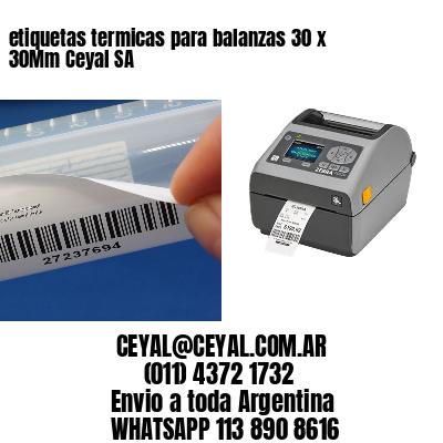 etiquetas termicas para balanzas 30 x 30Mm Ceyal SA