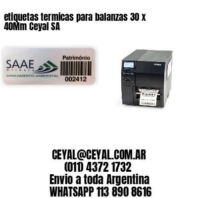 etiquetas termicas para balanzas 30 x 40Mm Ceyal SA