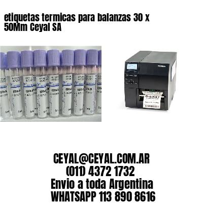 etiquetas termicas para balanzas 30 x 50Mm Ceyal SA
