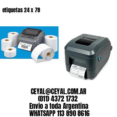 etiquetas 24 x 78
