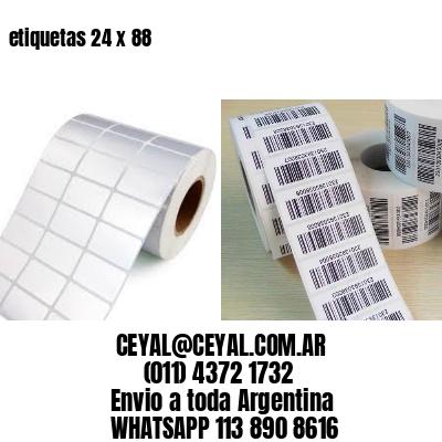 etiquetas 24 x 88