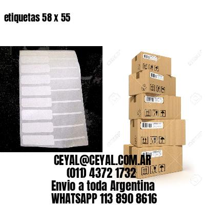 etiquetas 58 x 55