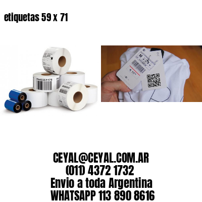 etiquetas 59 x 71