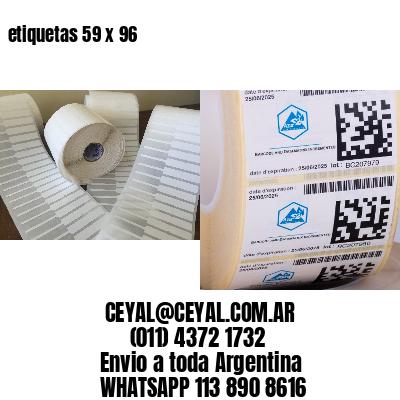 etiquetas 59 x 96