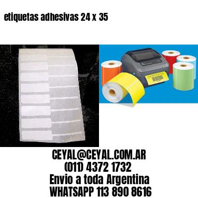 etiquetas adhesivas 24 x 35