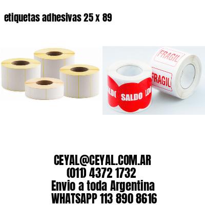 etiquetas adhesivas 25 x 89