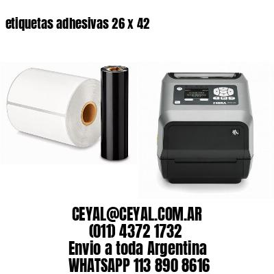etiquetas adhesivas 26 x 42
