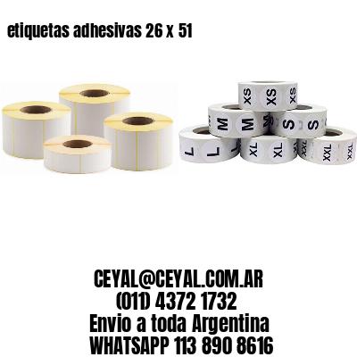 etiquetas adhesivas 26 x 51