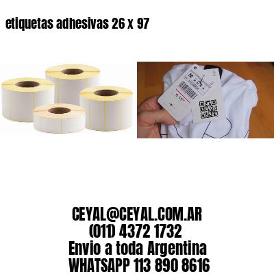 etiquetas adhesivas 26 x 97