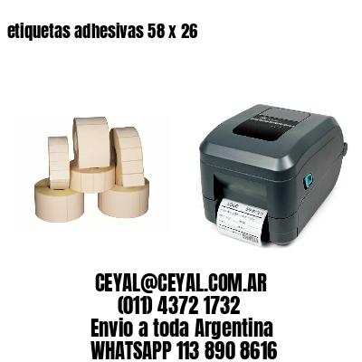 etiquetas adhesivas 58 x 26