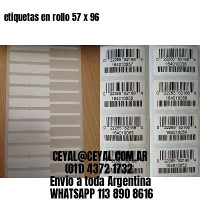 etiquetas en rollo 57 x 96