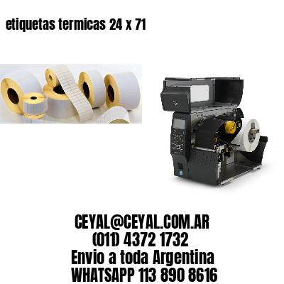 etiquetas termicas 24 x 71