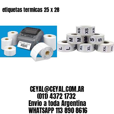 etiquetas termicas 25 x 28