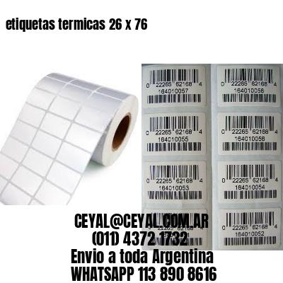 etiquetas termicas 26 x 76