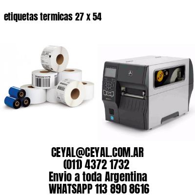 etiquetas termicas 27 x 54