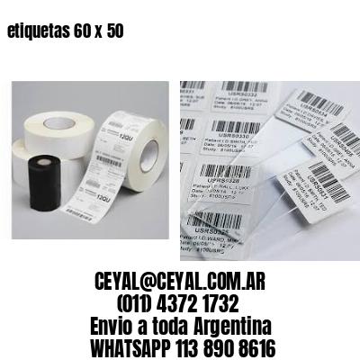 etiquetas 60 x 50