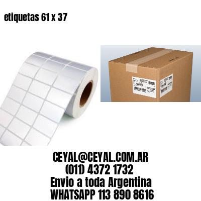 etiquetas 61 x 37
