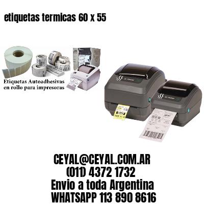 etiquetas termicas 60 x 55