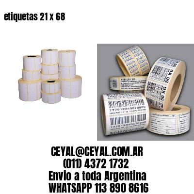 etiquetas 21 x 68