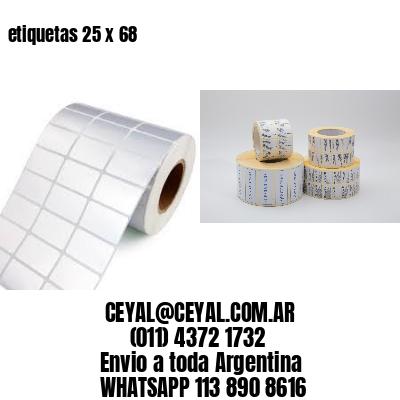 etiquetas 25 x 68