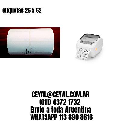 etiquetas 26 x 62