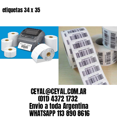etiquetas 34 x 35