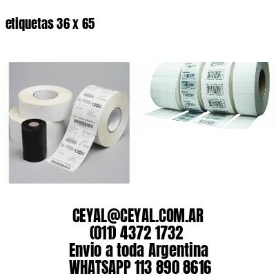 etiquetas 36 x 65