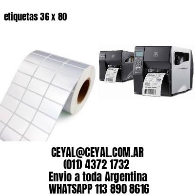etiquetas 36 x 80