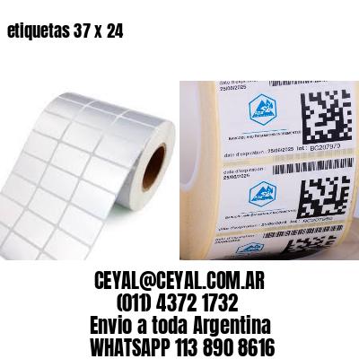 etiquetas 37 x 24