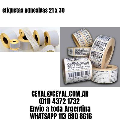 etiquetas adhesivas 21 x 30
