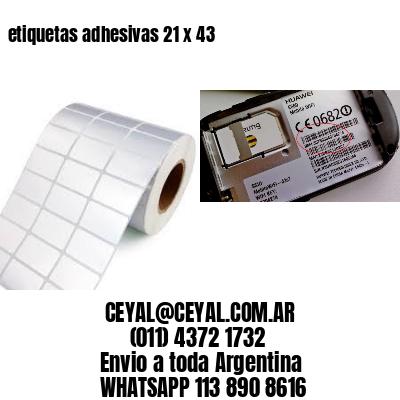 etiquetas adhesivas 21 x 43