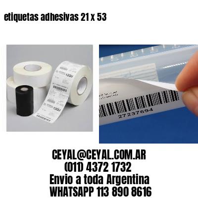 etiquetas adhesivas 21 x 53